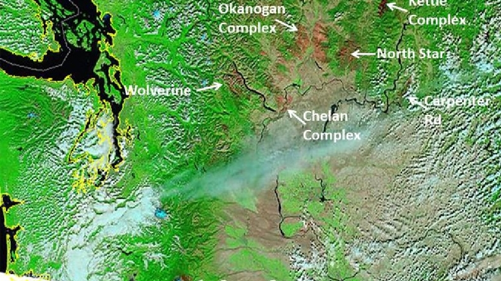 Photo puts massive Eastern Washington wildfires into perspective